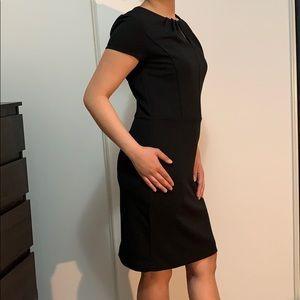 Midi Black Dress by Banana Republic
